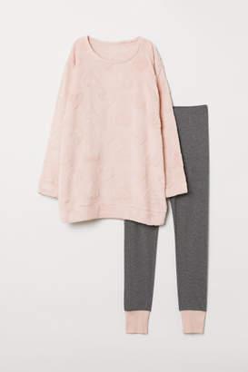 H&M Pajama Top and Leggings - Pink