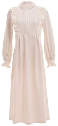 GRACEART Victorian Long Sleeve Cotton Nightgown Sleepwear 97bc4a427