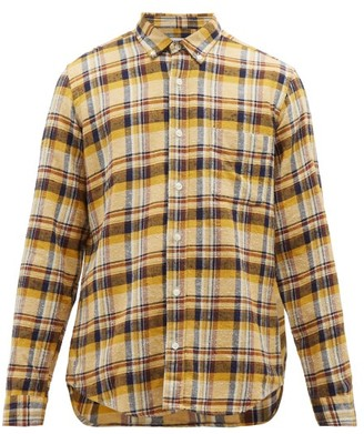 President's Chatham Check Cotton Flannel Shirt - Mens - Yellow