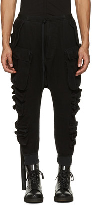 Unravel Black Parachute Cargo Pants $1,070 thestylecure.com