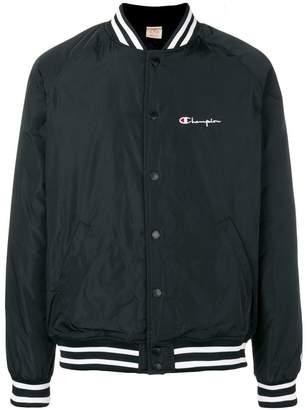 Champion stripe detail bomber jacket