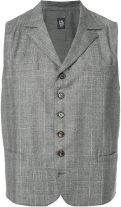 Eleventy check waistcoat