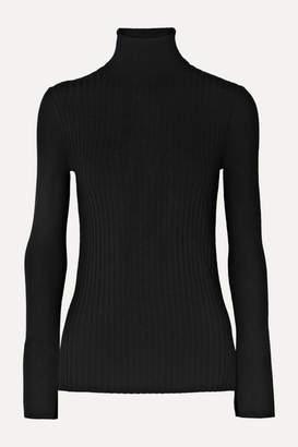 Alex Mill Ribbed Wool-blend Turtleneck Sweater - Black
