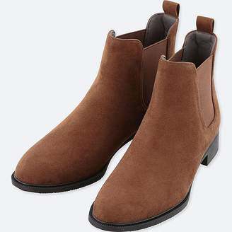 Uniqlo Women's Side Gore Faux Suede Short Boots