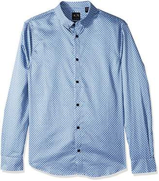 Armani Exchange A|X Men's Long Sleeve Print Shirt