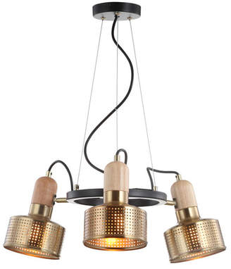 "Jonathan Y Designs Gallery 22"" 3-Light Adjustable Spotlight Metal Led Pendant"