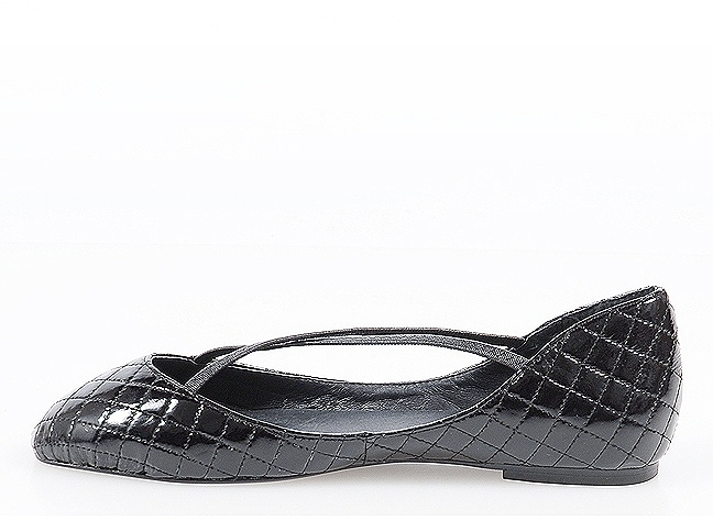 F-Troupe Criss Cross Ballet Flats in Black Patent