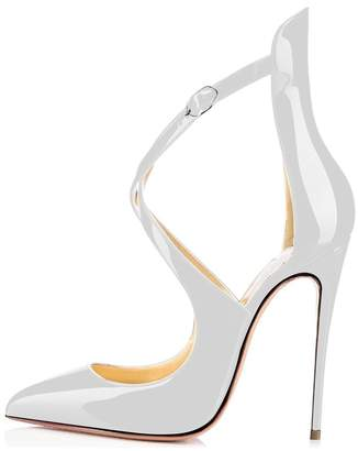 Sammitop Women's Strappy High Heel Formal,Wedding,Party Simple Classic Pump US7