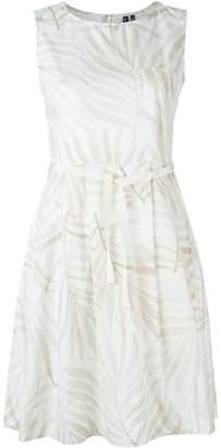 Woolrich leaf print flared dress