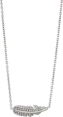 Fossil Women's Feather Glitz Steel Chain Necklace