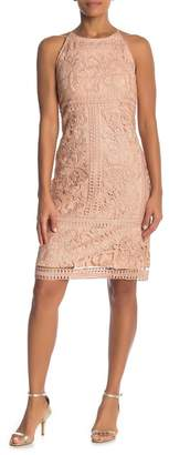 Marina High Neck Lace Dress