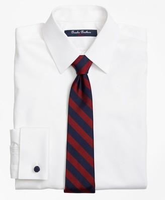Brooks Brothers Non-Iron Supima Pinpoint Cotton French Cuff Dress Shirt