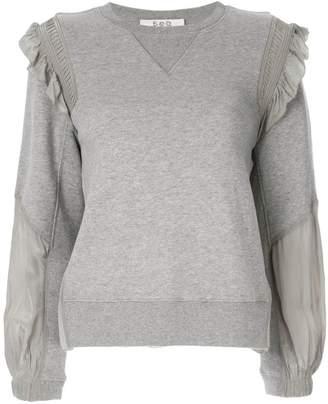 Sea ruffle-trimmed sweatshirt