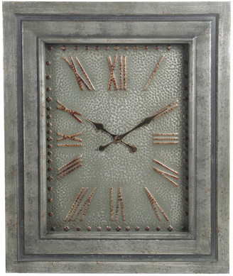 Privilege Wood & Metal Clock With Glass