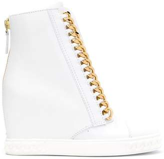 Casadei chain trim hi-top sneakers