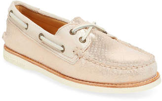 Sperry Women's Gold Cup Metallic Embossed Leather Boat Shoe