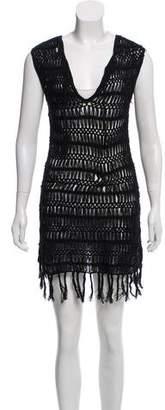 Melissa Odabash Sleeveless Crochet Dress