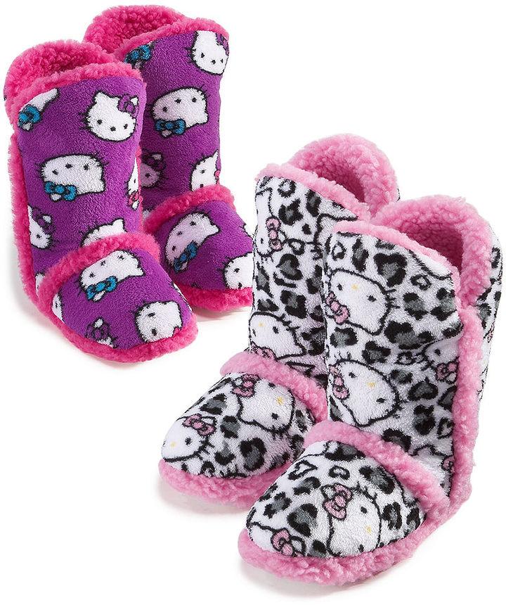 Hello Kitty Kids Slippers, Girls and Little Girls Super Plush Booties
