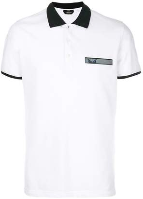 Fendi logo patch polo top