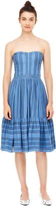 Rebecca Taylor La Vie Gauzy Stripe Dress