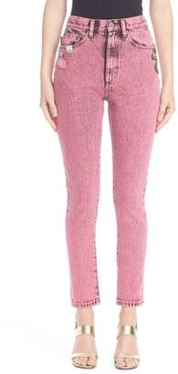 Women's Marc Jacobs Overdyed Bleach Crop Jeans $695 thestylecure.com