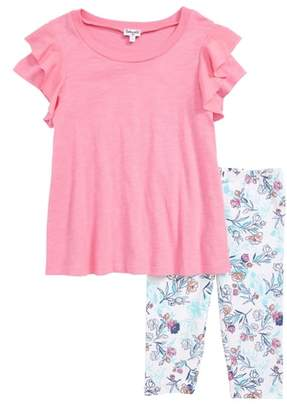 Splendid Top & Floral Leggings Set