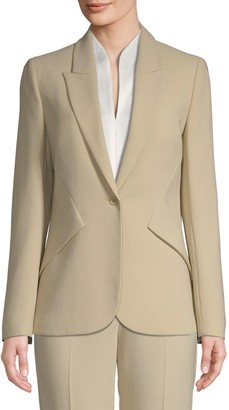 Elie Tahari Allegra Tailored Crepe Blazer