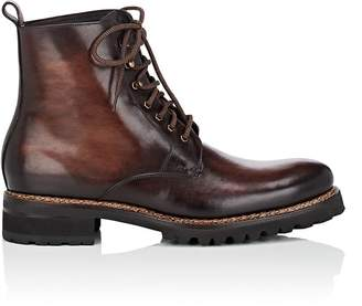 Harris HARRIS MEN'S LUG-SOLE BURNISHED LEATHER BOOTS