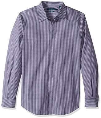 Perry Ellis Men's Long Sleeve Horizontal Multi-Color Stripe Shirt