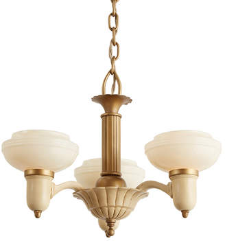 Rejuvenation Three-Light Art Deco Chandelier w/ Cup Shades