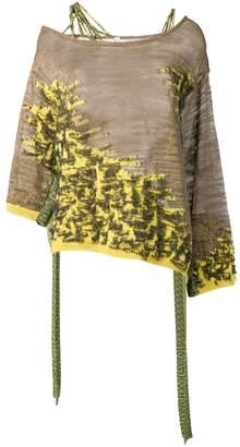 Antonio Marras asymmetric knit mix top
