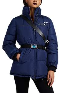 Prada Women's Belted Down-Quilted Puffer Jacket - Blue