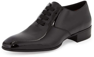 Tom Ford Gianni Patent Leather Lace-Up Shoe, Black