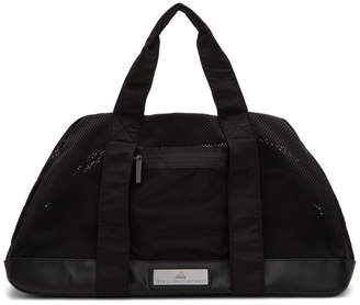 adidas by Stella McCartney Black Medium Logo Duffle Bag