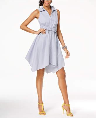 INC International Concepts I.N.C. Sleeveless Handkerchief Shirtdress, Created for Macy's