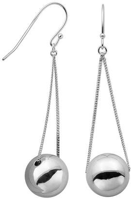 FINE JEWELRY Sterling Silver Bead Drop Wire Earrings