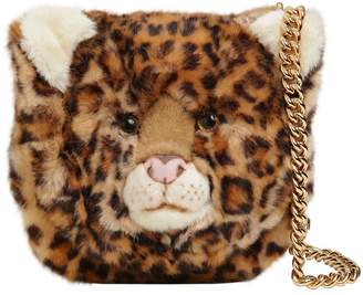 Dolce & Gabbana Leopard Plush & Embossed Leather Bag