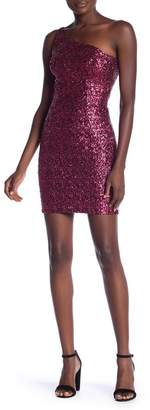 Dress the Population Cher One Shoulder Sequin Dress