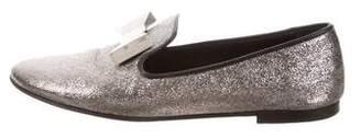 Giuseppe Zanotti Metallic Bow Loafers