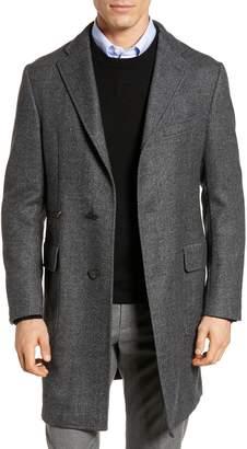 Hickey Freeman Classic Fit Wool Topcoat