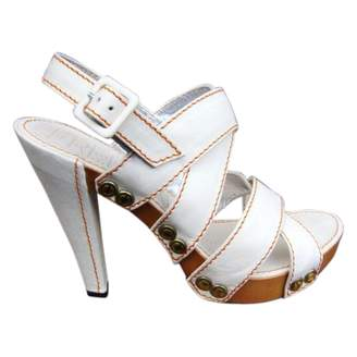 Free Lance White Leather Sandals