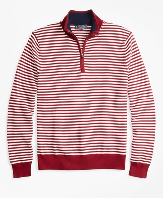 Brooks Brothers Yacht Stripe Half-Zip Sweater