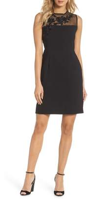 Pisarro Nights Illusion Mesh Sheath Dress