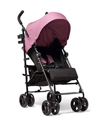 Mamas and Papas Cruise Practical Folding Pushchair Buggy with Front Suspension Wheels, Adjustable Lie Flat Seat and Large Protective Hood - Rose Pink
