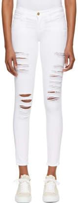 Frame White Le Skinny de Jeanne Jeans