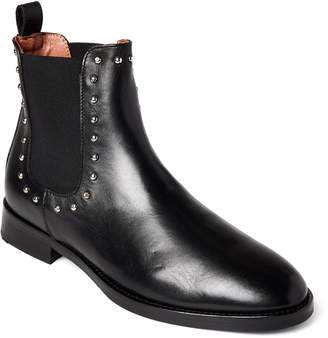 Bobo House Black Leather Studded Chelsea Boots