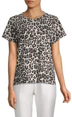 Marc Jacobs Leopard-Print Cotton Tee