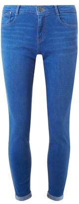 Dorothy Perkins Womens Ultra Blue 'Harper' Low Rise Stretch Skinny Jeans