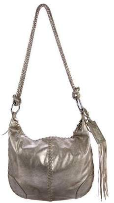 Ralph Lauren Metallic Distressed Leather Tote