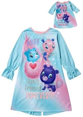LTB SGI Apparel Hatchimals Hatch Friends Forever Nightgown & Doll Nightgown Set (Little & Big Girls)